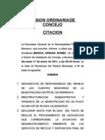 Citacion Sesion de Concejo Barranco 17 ene 2011