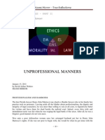 Unprofessional Manners by David Arthur Walters