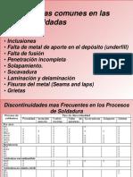 6.1 DEFECTOS EN SOLDADURA