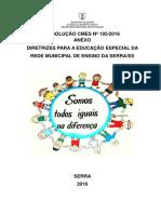 DIRETRIZES PARA A EDUCAÇÃO ESPECIAL PDF