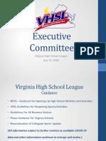 VHSL Power Point Presentation Reopening Sports