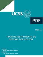 Instrumento de gestoón por sector