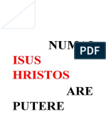 NUMAI    ISUS HRISTOS.docx