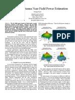 Antenna Near Field Power Estimation