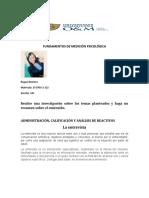 ADMINISTRACIÓN, CALIFICACIÓN Y ANÁLISIS DE REACTIVOS