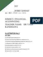 Assignment_Finanacial Account 2018-ag-4621 Naveed Ahmad