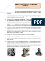 Biología - Desarrollo Histórico de la Anatomía Humana (1)
