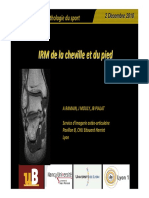 IRM de la chevile
