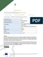 D1.1_SSHOC_Project Management Plan v1.3