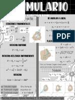 Formulario movimiento plano general y rotación