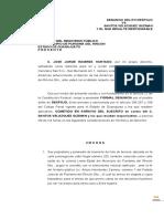 DENUNCIA DE HECHOS DESPOJO JOSE JORGE RAMIREZ HURTADO