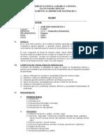 SILABO ANÁLISIS MATEMÁTICO I JULIO 2019 ULT