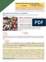 Actividad II de 7° Grado- Caracteristicas etnicas de la población