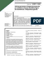 Bobinas grossas e chapas grossas de NBR-11889-1992-pdf