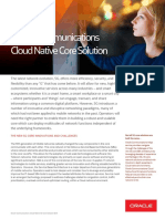 Oracle Communications Cloud Native 5G Core Solution - Brief