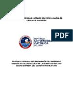 Pontificia Universidad Católica Del Perú Facultad de Ciencias e Ingeniería