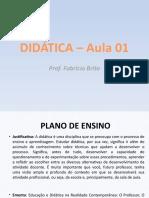 DIDÁTICA – Aula 01