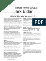 Codex Dark Eldar FAQ