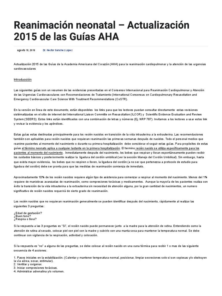 Ped Reanimacion Neonatal PDF   PDF   Reanimación cardiopulmonar ...