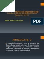 SEGURIDAD SOCIAL Tema 4Reglamento Aplicacion Del IHSS