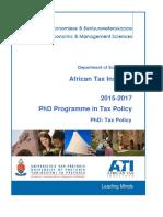 PhD-Tax-Policy