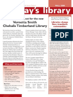 Fall 2008 Today's Library Newsletter, Timberland Regional Library