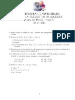 PARCIAL ELTOS DE ALGEBRA 23-set-2013 (tema A)