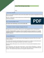 inquiry based lesson plan entrepreneurship