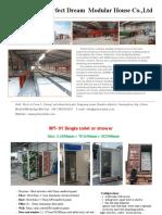 Portable toilet quotation -PD Modular Inc.