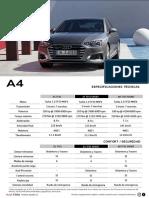 Ficha Tecnica Nuevo Audi A4