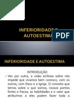 INFERIORIDADE E AUTOESTIMA ppt