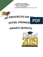 PROYECTO DE VIDA QUINTO GRADO