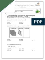 Prueba de Diagnóstico 3º básico 2012