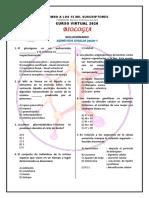 SOLUCIONARIO BIOLOGIA - ADMISION UNALM - 2020 - I