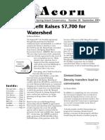 September 2001  Acorn Newsletter - Salt Spring Island Conservancy
