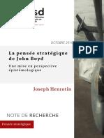 PP Joseph Henrotin - La Pensée de John Boyd. une mise en perspective épistémologique