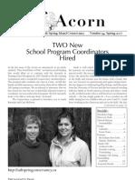 Spring 2007  Acorn Newsletter - Salt Spring Island Conservancy