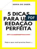 5 dicas para uma redação perfeita