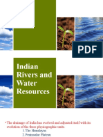 Indian Rivers and water resources