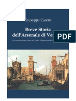 CASONI Giuseppe.  The Venetian Arsenal. A short history. 1847