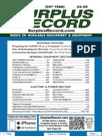 AUGUST 2020 Surplus Record Machinery & Equipment Directory