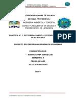 FUNDAMENTOS DE SECADO Y PRESERVACION DE LA MADERA practica 2