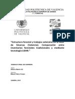 """""""Estructura forestal y trabajos selvícolas en el MUP"""