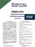 Digital Core Design Dr8051cpu_ds