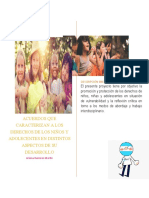 acuerdos que caracterizan a los derechos de los niños y adolecentes en distintos aspectos de su desarrollo