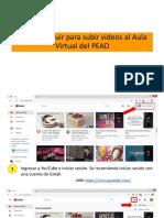 PASOS PARA SUBIR EL LINK DEL VIDEO