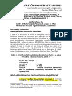 Modelo Demanda Contra Resolución Que Desestima Apelación Contra Acta de Infracción en Estado de Emergencia Covid 19 - Autor José María Pacori Cari
