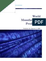 ONUDI - World manufacturing production - 2020 -Q1