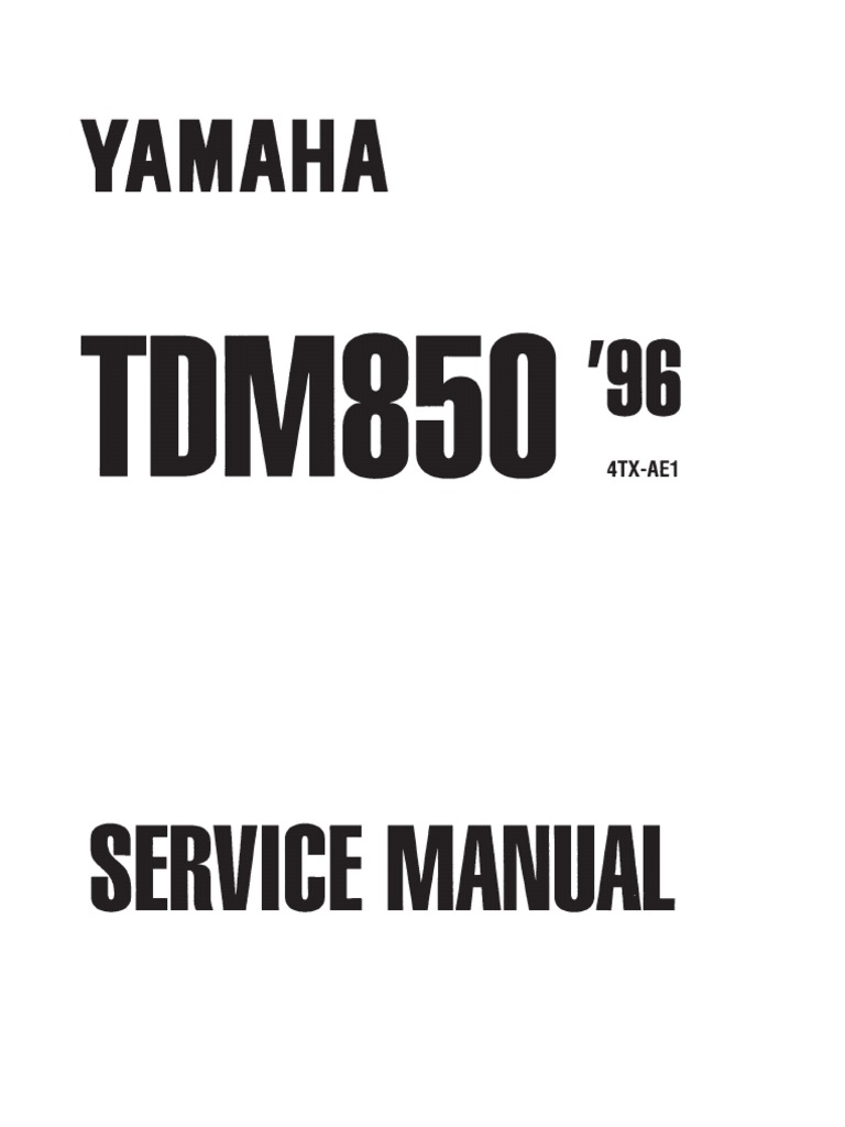 yamaha tdm 850 service manual free download