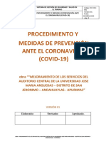 Procedimiento Medidas de Prevencion ante Coronavirus (COVID-19) - Personal ExternO